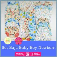 PAKET SET BAJU BAYI BABY LAKI LAKI BARU LAHIR BOY NEWBORN 0 3 6 BULAN