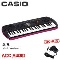 Keyboard Mini CASIO SA-78 / SA78 + adaptor