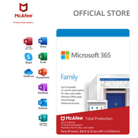 Microsoft 365 Family + McAfee Total Protection