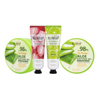[BIG SALE 4pcs] 2pcs Aloe Vera Soothing Gel+HC Strawberry+HC Lime