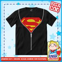 Baju Anak Laki2 / Kaos Anak Laki-laki Motif Superman Uniform 1-10 thn - 1-2 tahun