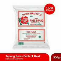 Tepung Beras Rose Brand 500gr - 1 dus
