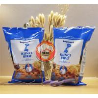 Tepung Terigu Kunci Biru PREMIUM 1kg, Bogasari, Protein Rendah