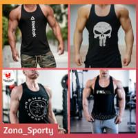 Baju Singlet Gym Pria Kaos Sport fitness