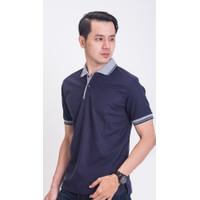 NCTSHOP Polo Shirt pendek / Kaos Kerah Kombinasi Abu PIQUE