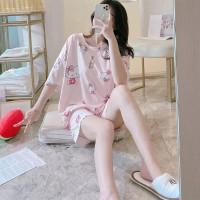 Pakaian Wanita Baju Tidur Wanita Piyama Lengan Pendek Import 4019 - HELLOKITTY