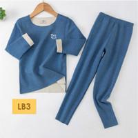 LB3 Piyama Anak Laki Perempuan Setelan Stretch Baju Tidur 1-12 Thn - 130