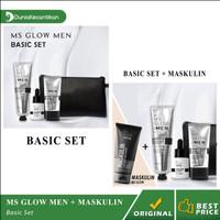 Paket MS Glow Men Basic Ms Glow For Men Original BPOM Free Pouch