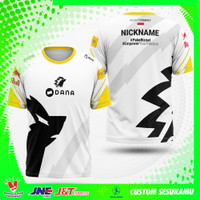 Jersey Kaos Baju Tshirt Gaming ONIC Putih Fullprin-Gratis pasang nama