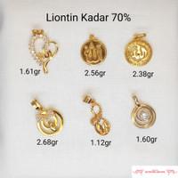 Liontin Lafadz Allah Kadat 700 Bandul Kalung Bulet Toko Emas Bekasi