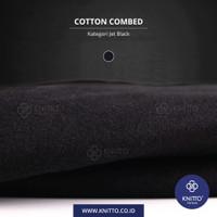 KAIN KAOS | COTTON COMBED 30S JET BLACK | BAHAN KATUN (0.50 KG) - 48. Jet Black