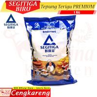 Tepung Terigu Segitiga Biru PREMIUM 1 Kg - Bogasari - Protein Sedang