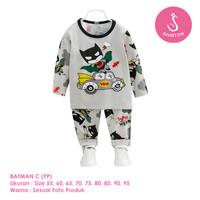 Setelan Baju Tidur Anak Laki-Laki Import Panjang Batman C Shirton