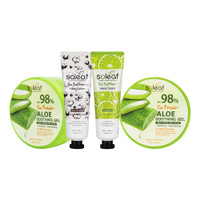 [BIG SALE 4pcs] 2pcs Aloe Vera Soothing Gel+HC Cotton Baby+HC Lime