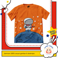 Baju anak laki-laki / Kaos anak laki-laki motif Astronot Moon