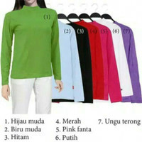 Manset Wanita Rayon Baju Kaos Daleman XL - Hitam, XS