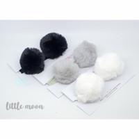 fur pom pom premium baby headband bandana bayi anak bando kuping