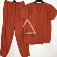 Baju Tidur Wanita Piyama Setelan Rayon CP Celana Panjang - Polos