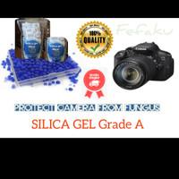 Silika / Silica Gel Biru Penyerap Lembab Anti Jamur Kamera Sepatu