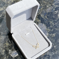 Butterfly Outline Diamond Pendant