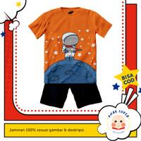 Baju anak laki-laki / Setelan anak laki-laki motif Astronot Moon