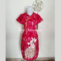 Dress Shanghai Cheongsam Merak Dewasa (Foek)