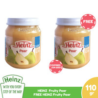 HEINZ Fruity Pear 110 Gr - Buy 1 Get 1