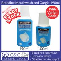 betadine mouthwash gargle obat kumur antiseptik 190 ml 190ml original - 190mL