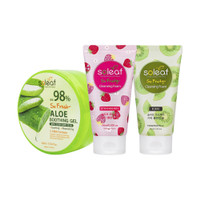 [BIG SALE 3pcs]Aloe Vera Soothing Gel+Cleansing Foam Kiwi+Strawberry
