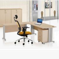 Meja direktur meja kantor Donati bentuk L uk.160 + meja L 120 cm