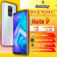 XIAOMI Redmi Note 9 6/128 RAM 6GB ROM 128GB Garansi XIaomi Indonesia