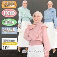 Witaah Top Blouse Katun Wanita Lengan Panjang Kekinian Murah Baju Atas