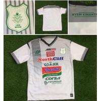 Jersey Kaos Baju Bola PSMS Medan Away Putih 2018/2019 Grade Ori