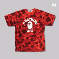 Bape Collage Tee Color Camo Red 100% Authentic - M