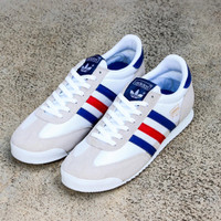 Sepatu Pria Casual Sneakers Adidas Dragon White France Original BNWB