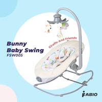 Ayunan Bayi Fabio Bunny Electric Baby Swing FSW-005