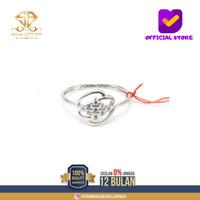 cincin emas putih wanita perhiasan emas asli kadar 375 CMM101 R11