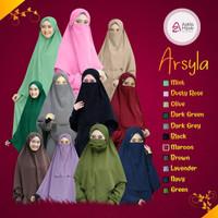 jilbab khimar Arsyila by Azkia hijab,banyak pilihan warna,free cadar