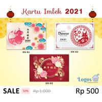 Kartu Imlek Tahun baru china Greeting Card tag ucapan chinese new year
