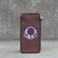 Brown Leather Case Sleeve Hexohm V3 Cut Logo Kulit Asli