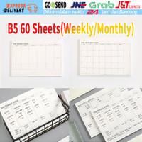 Planner Monthly Weekly The Times Agenda Memopad Buku Tulis Catatan