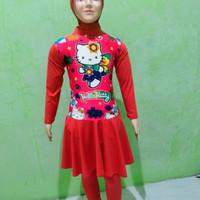 baju renang muslimah anak TK baju renang muslimah - TK helo Kity, M