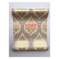 V89 Wallpaper Dinding - Wallpaper Sticker Vintage Biru