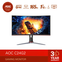 AOC C24G2 24 Inch Curved Gaming Monitor - FHD VA 165hz 1ms HDR