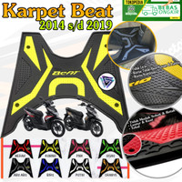 KARPET MOTOR BEAT 2015 S/D 2019 - beat fi - beat stereet - Kuning