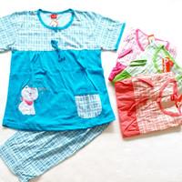 Baju tidur Babydoll amro celana 3/4 Merah 5411