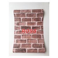 R98 Wallpaper Sticker Batu - wallpaper dinding