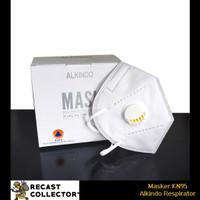 Masker KN95 Alkindo Respirator Filter 1 Box isi 10
