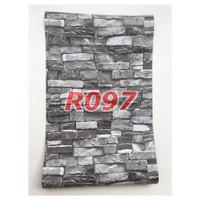 R97 Wallpaper Sticker Batu - wallpaper dinding