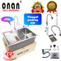 paket komplit kitchen sink onan 6045 bak cuci stainless model bolzano